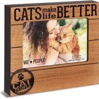 Cats Make Life Better Picture Photo Frame