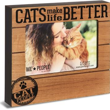 Cats Make Life Better Picture Frame
