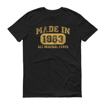 1983 Birthday Gift, Vintage Born in 1983 t-shirt for men, 35th Birthday shirt for him, Made in 1983 T-shirt, 35 Year Old Birthday Shirt