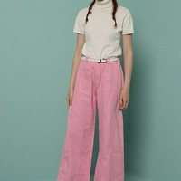 Retro Pink Wide Leg Pants
