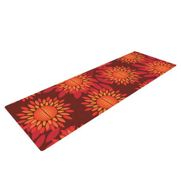 "Yenty Jap ""Sunflower Season"" Orange Red Yoga Mat"