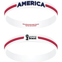 FIFA World Cup USA White Embossed Wristband