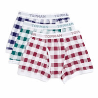 Gingham 3 Pack Underwear - New This Week - New In - TOPMAN USA