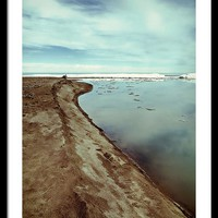 Lake Erie Ice Flow 2 Framed Print by Shawna Rowe