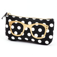 Apt. 9 Polka-Dot Sunglasses Soft Case (Black)