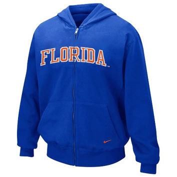 Nike Florida Gators Youth Royal Blue Arch Lettering Full Zip Hoodie Sweatshirt