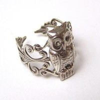 Steampunk SNOW OWL Adorable by chinookhugs on Etsy