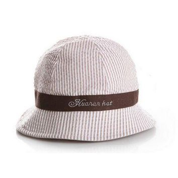 LMF78W 6-24Months Fashion Hot Toddler Baby Girl Boys Hat Infant Sun Cap Beach Bucket Hats