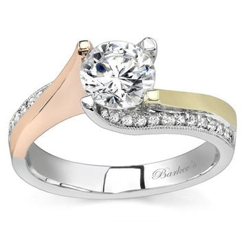 Barkev's 14K Tri-Color Gold Diamond Tension Twist Engagement Ring