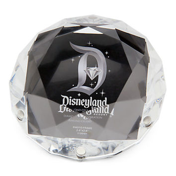 disney disneyland 60th celebration acrylic diamond shaped photo frame new