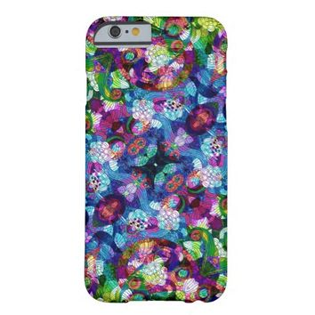 Colorful Romantic Vintage Floral Pattern 2 Barely There iPhone 6 Case