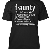 FAUNTY Definition Aunt Funny T-Shirt