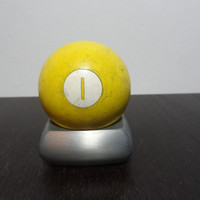 Vintage Solid Yellow Lucky Number 1 Billiard/Pool Ball