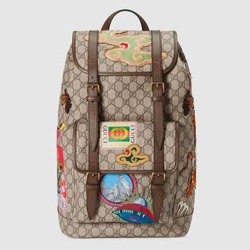 gucci-gucci-courrier-soft-gg-supreme-backpack number 1
