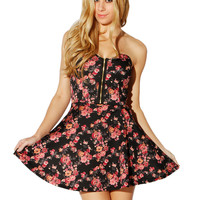 Papaya Clothing Online :: FLORAL ZIPPER FLARE DRESS