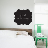 Ornate Frame Chalkboard Wall Decal