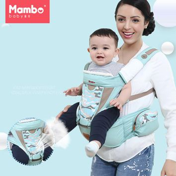 Cotton Ergonomic Baby Carrier with windproof cap 360 Sling Newborn Wrap Sling Backpacks Adjustable Kids Manduca Carrier