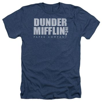 The Office - Dunder Mifflin Distressed Adult Heather Officially Licensed T-Shirt Short Sleeve Shirt