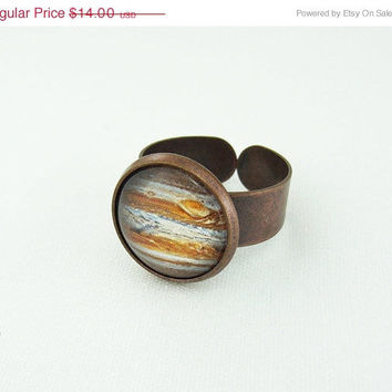 ON SALE Planet Jupiter Ring  Space Jewelry by InfinitStyle on Etsy
