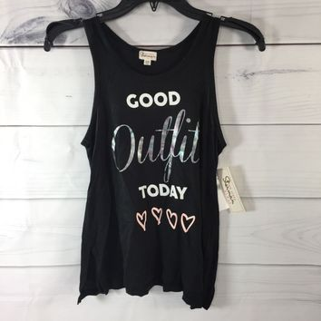 Ten Sixty Sherman 'Good Outfit Today' Graphic Tank Top, Size XL