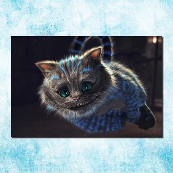 Alice in Wonderland Movie Art Silk Canvas Poster Print 13x20 24x36 Cheshire Cat Wall Pictures For Living Room Decor (more)-6