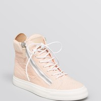 Giuseppe Zanotti Lace Up High Top Sneakers - London