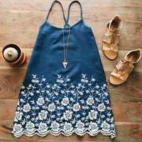 A Chambray Floral Dress