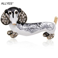 Womens Cute Dachshund Brooches For Women and Men - Animal Jewelry