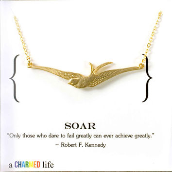 soaring bird necklace, everyday jewelry, inspirational jewelry bridesmaid gifts birthday bridal gift