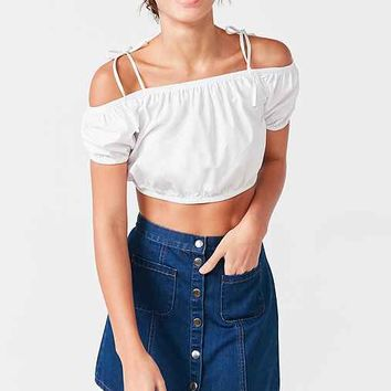 Alice & UO Hermance Off-The-Shoulder Cropped Top