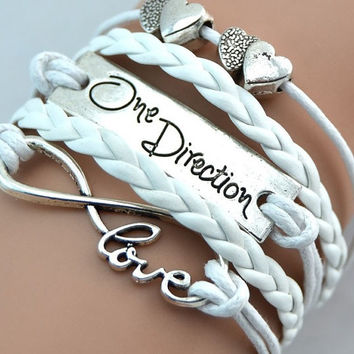 Infinity love one direction Bracelet, infinity bracelet, love bracelet, birthday ,Friendship bracelet, sister gift,