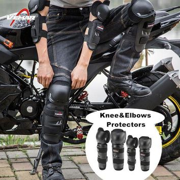 ac NOOW2 Vemar 4pcs/lot  Motorcycle Motocross Off-Road Racing Knee + Elbow Pads Set Safety Guards Protective Gear Extreme Sport Protector
