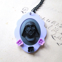 Darth Vader Star Wars inspired Jewelry Necklace geeky girl