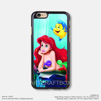 Little mermaid Ariel Disney princess iPhone Case Black Hard case 075
