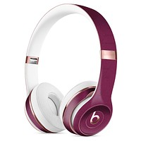 Shades of Burgundy Over Vintage Script Full-Body Skin Kit for the Beats by Dre Solo 3 Wireless Headphones