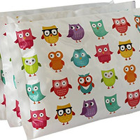 """Ice Pack for Lunch Boxes (3 Pack) by Bentology (6""""x4.5"""") - Owl Design"""