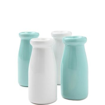 mini ceramic milk bottle 4pk