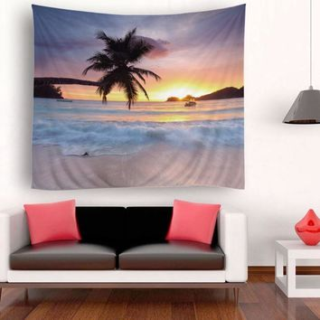 Mediterranean Style Wall Hanging Tapestry Polyester Fabric Printed Wall Decor Beach Towel Bedspread Picnic Blanket