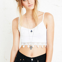 Crochet Trim Crop Top in White - Urban Outfitters