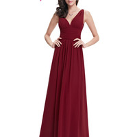 Evening Dresses Double V Black Elegant Long Formal Gown EP09016 Ever Pretty 2016 Vestido Longo Evening Dresses