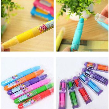 3 Colors Temporary Lipstick Style Hair Color Chalk Pencil Hair Dyeing Pen Dye Pastels Purple/Red/Green