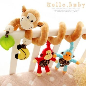 3Pcs/Set Monkey Plush Toys For Baby Stuffed Newborn Animals Monkey Educational Toys Baby Monkey Newborn Animals For Baby A163