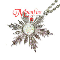 ONCE UPON A TIME Elsa Anna Snowflake Necklace