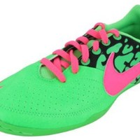 Nike Kids's NIKE JR ELASTICO II INDOOR SOCCER SHOES 3.5 Kids US (NEO LIME/PINK FLASH/BLACK)