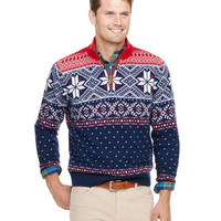Shop Fair Isle 1/4-Zip at vineyard vines