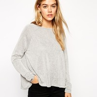 ASOS Swing Top with Long Sleeves in Fine Crepe at asos.com