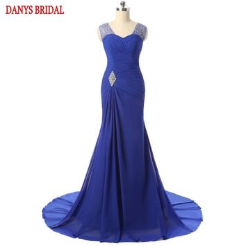 Mermaid Mother of the Bride Dresses Gowns for Weddings Beaded Chiffon Bridal Formal Godmother Groom Long Dresses Gowns