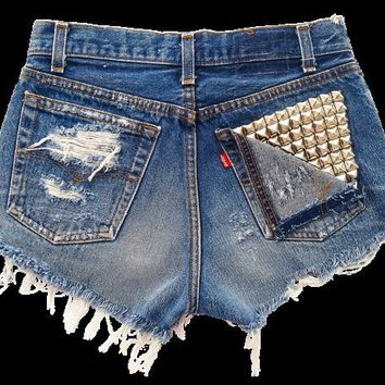 Vega shorts studded cut offs
