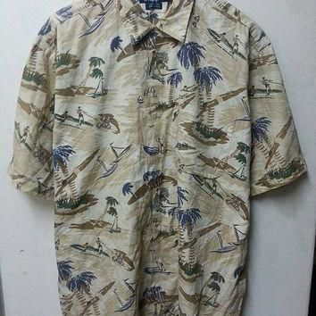Rare Polo Ralph Lauren Dive Outrigger Net Fishing Shirt (saiz L)