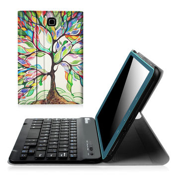 Fintie Samsung Galaxy Tab A 8.0 Keyboard Case - Smart Slim Shell Light Weight Stand Cover with Magnetically Detachable Wireless Bluetooth Keyboard for Tab A 8.0 inch Tablet Love Tree Z-Love Tree